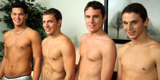 Don't miss this hot straight boy orgy.  Newbies Ryan and Dustin and two of your favoites Tyler and CJ.  This one is gonna  be hot.