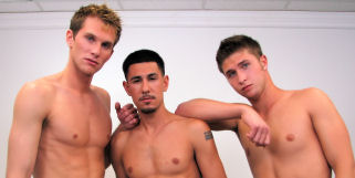 Don't miss this hot shoot with Logan, Shane and Ricky.  Someone's ass is going to get their ass pounded, but can you 