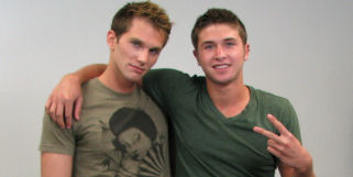 Logan and Shane are in this hot scene together.  Don't miss this incredible scene with two very hot broke straight boys.