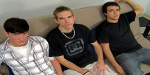 Ty, Gabe and Seth are in this hardcore scene together.  Check it out to see which one of these boys will get fucked.