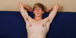 Kevin is in the running for having one of the largest dicks on BSB. See what this young blond gets up to on his first time on the futon... he may just surprise you!