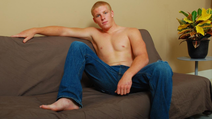 Connor is a fan of country music but he certainly isn't a shy cowboy. Watch as Connor wanks off in front of a camera for 