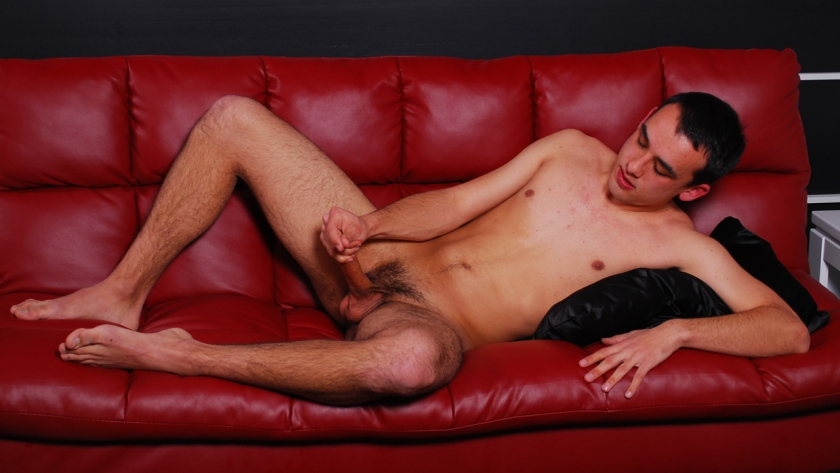 Newbie Shane Trump shows off his stuff! This lad has it all, from a cute face to a dick prepared to make a few bottoms cry for mercy. He takes his time in this solo, but the work is well worth it. He gets himself all heated up and shoots a massive load.
