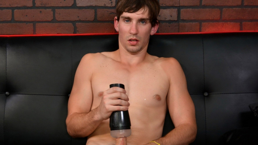 Abram Hoffer is fresh meat here on Broke Straight Boys, and we've got him kicking off his porn 