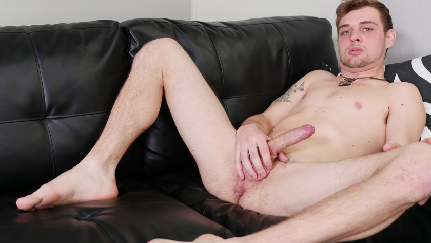Help us welcome newbie John Henry to the studio!  This country boy is at ease on camera and ready  to show off his big, uncut cock and sexy ass!