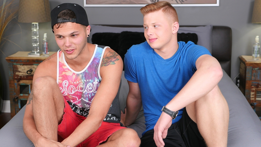 Gage and Zach both get some dick in this sexy flip scene!  Watch these guys pound each other  raw  and hard!