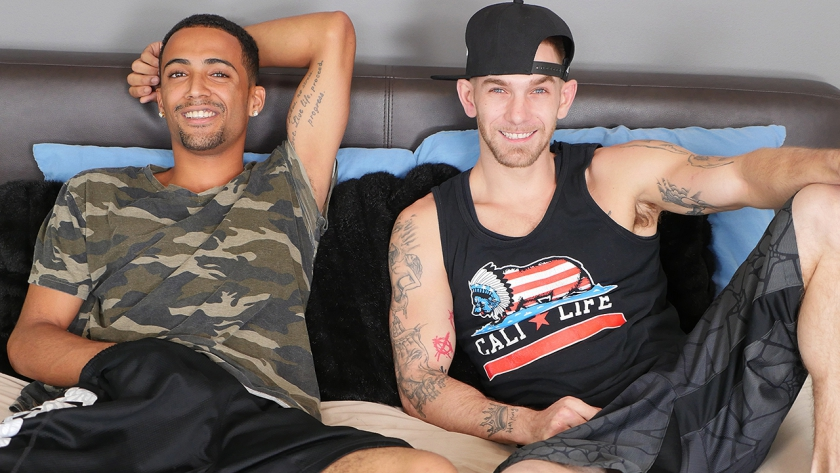 Dakota doesn't waste any time getting things started with LJ, and that means more time to enjoy  watching these guys suck cock and take dick!
