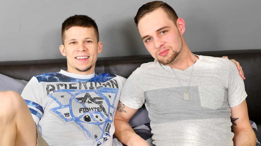 John Henry preps Dillon Anderson's tight hole with some fingering and foreplay, sucking his dick  while they 69 and then fucking the cum right out of him after he dominates that ass!