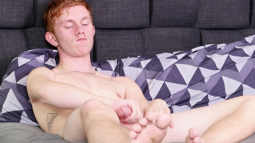 Our new 18-year-old red head is ready to cum for the first time on camera!  See what this newbie's  got as he gets himself off!