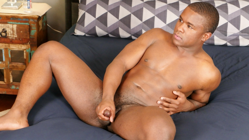 New guy Buddy Wild cums hard with his legs spread for us in his first solo scene!
