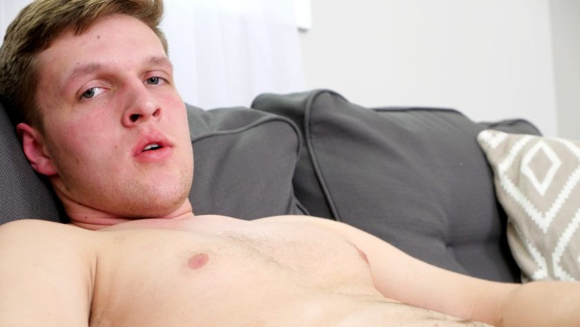 We welcome newbie Elijah Scott into the studio this week to stroke his cock for you as he relaxes on 