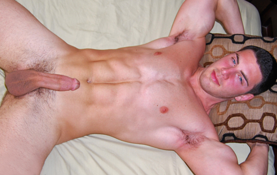 Rip Cali shows off his magnificent body in his first vid for CollegeDudes247.  We really like how he  moans softly while he strokes it, and how he handles his massive meat.  This dude is a stud, and  when he blows his load all over his perfect six pack, we think you are gonna b