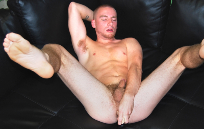 Sebastian Spiers is a newbie who is happy to try anything, so we threw him a dildo and asked him to  explore his ass for us in this hot solo.  We always like having masculine guys not only stroke it, but  really play with their assholes.  Sebastian got so hot and bothered once
