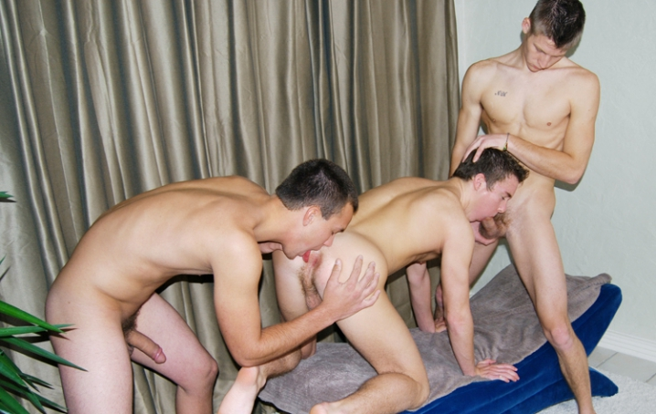 It has been a while since we had a 3-way here at CollegeDudes247, so when Hayden, Carter, and  Logan were all here, they were begging us to give it a try with them.  The results were out of this  world!  Carter and Hayden both have huge cocks, and Logan really gets crazy in thi
