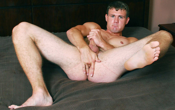 Dennis Slade is a 23 year old with mischief on his mind!  He had told us that he was always wanting  to get into porn, and he was very excited to finally have the chance.  In his first video, he struts his  stuff.  Dennis has a great upper body, a thick cock, and a nice bubble