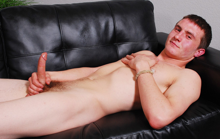 Aaron Spitz is a college senior who seems to be very curious about showing off.  He is athletic and  plays a lot of sports, but in addition he studies and works hard.  We were lucky enough for him to  grab some time to strip down and jerk off for us!  Aaron has a lean body and