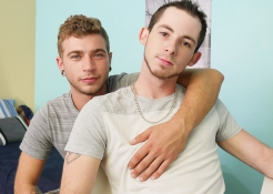 Alex Greene and Toby Springs are hot and horny, and these studs can't keep their hands, or their cocks, to themselves!