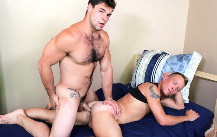 Aspen is back, this time with the new guy Blake Jordan!  Watch as Aspen gives it to Blake hard and  rough and makes him cum everywhere!