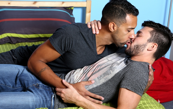 Jay and Scott can't keep their hands off each other, and once they start kissing and cock-sucking, 