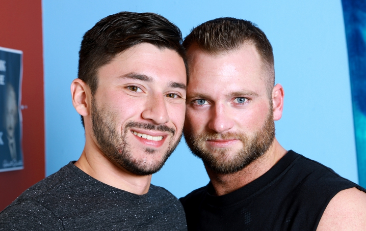 Watch as Aiden gets his tight ass fucked hard by Scott's huge cock and takes every inch until he  cums hard!