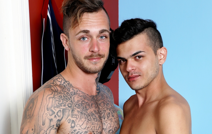 We hope you enjoy watching Jacob get his tight little ass pounded by Brian's hard dick!