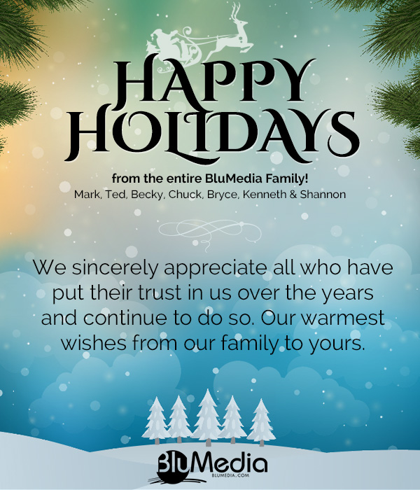 Happy Holidays from BluMedia Inc